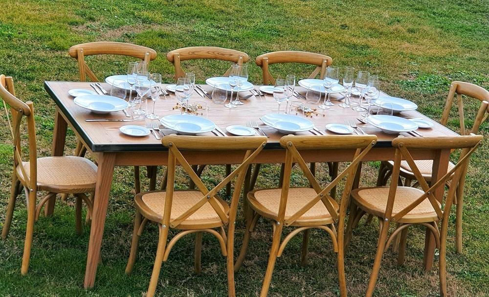 présentation table bois