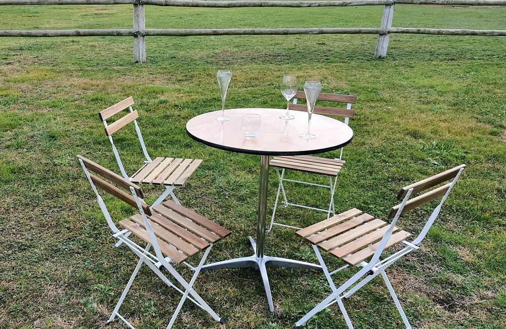 table guéridon bois 75